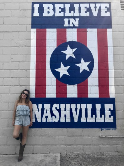 I believe in Nashville mural 12south cma fest
