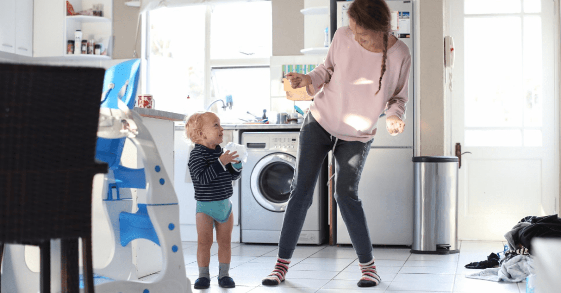 Dancing to entertain your toddler