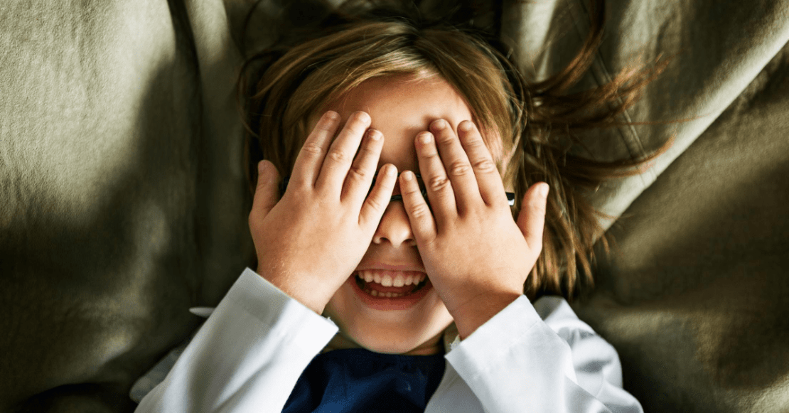 Play peek-a-boo with your toddler