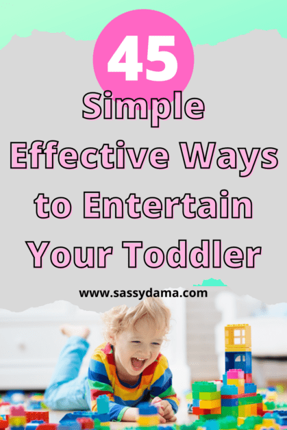 Pinterest pin for effective ways to entertain your toddler
