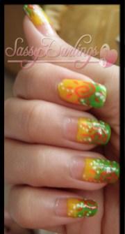 summer fun in sun nail art