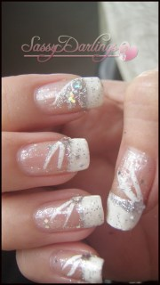 heavenly french tip wedding