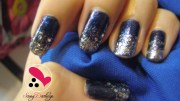 royal blue nail art love