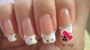 french tips design nail art love