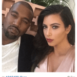 Kim Kardashian Instagram with Kanye West Makeup