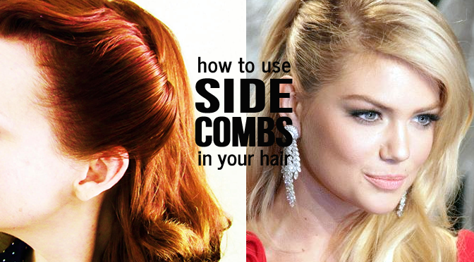 How To Use Side Combs In Your Hair