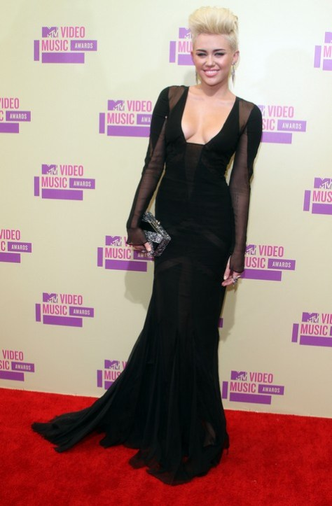 The 2012 MTV Video Music Awards in Los Angeles Miley Cyrus