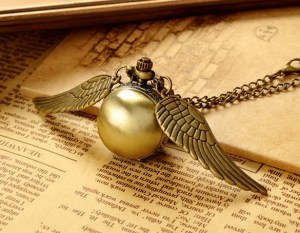 Harry Potter Golden Snitch Necklace with Watch
