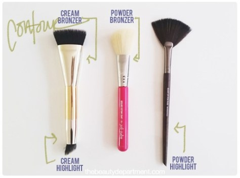 makeup brushes which to use contour highlight