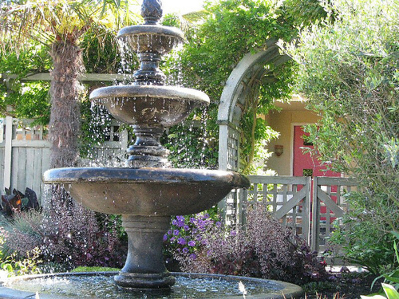 Style Your Backyard With Fountains Sassy Dove