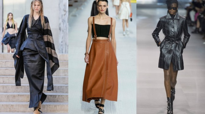 FW 2019 fashion edgy looks leather rick owens hermes celine