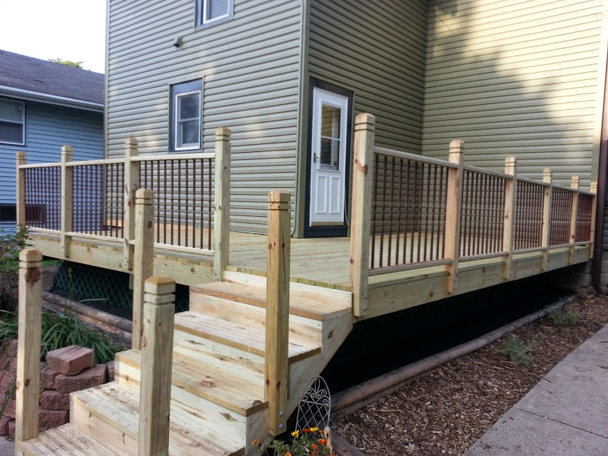 The deck after the second day I helped build it.