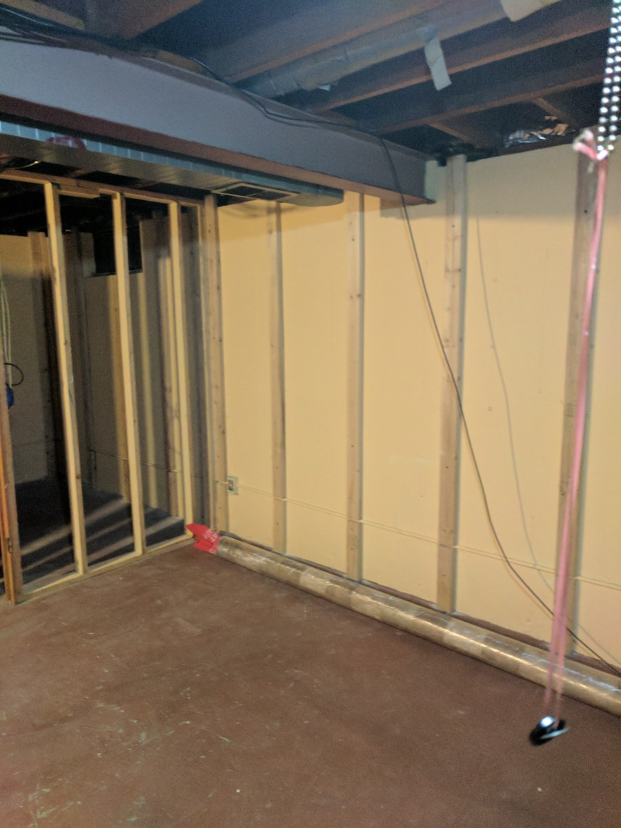 Basement framed at move in
