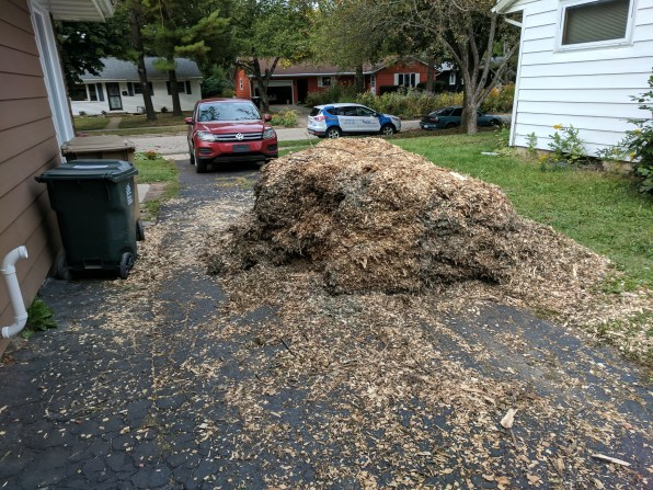 Mulch Pile - Smaller after hauling