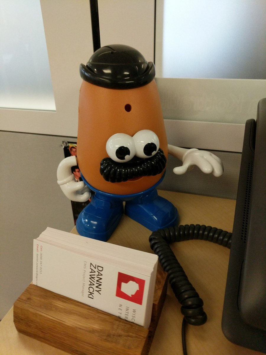 Business Card Holder Mr. Potato Head