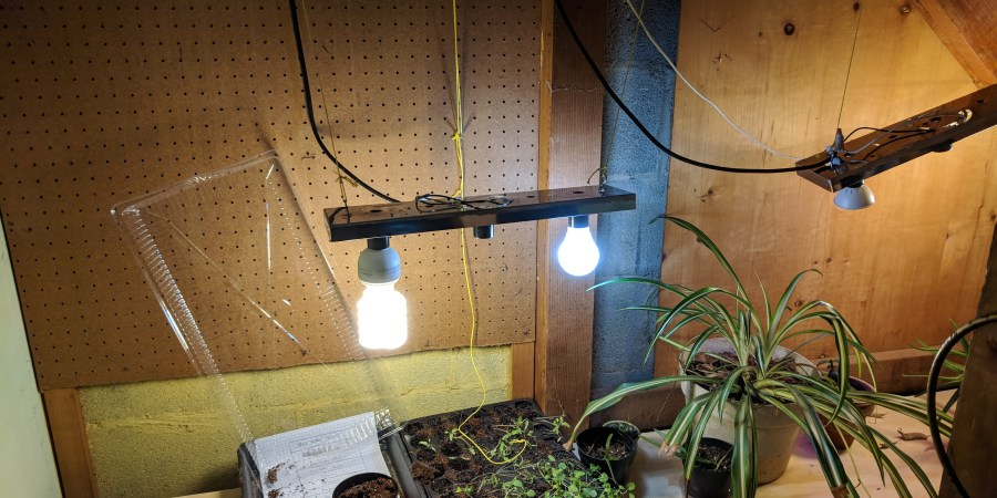 Greenhouse lights installed