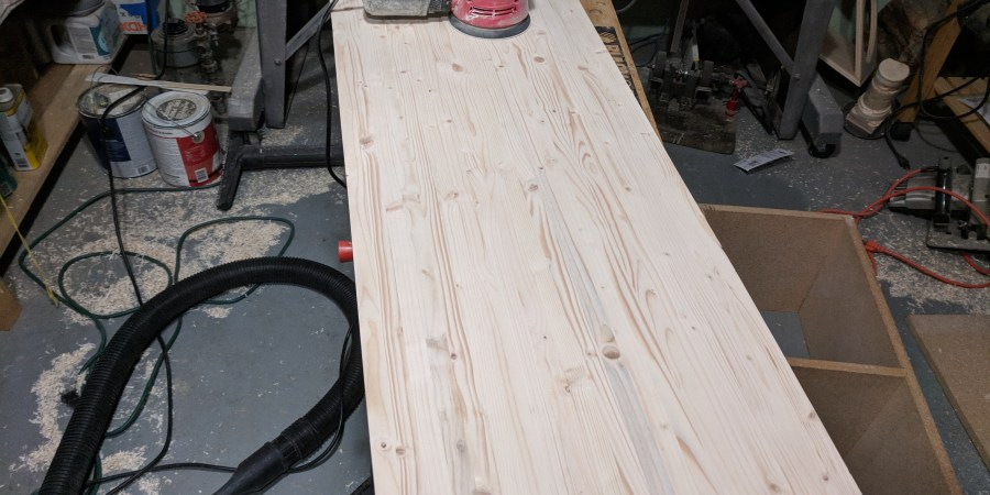 Butcher block counter top sanding