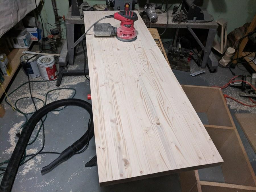 Butcher block counter top sanding