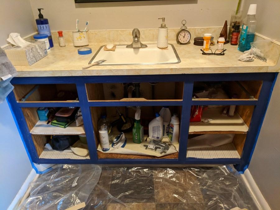Bathroom Vanity Painted