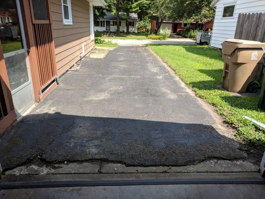 Driveway Resurfacing cleaned