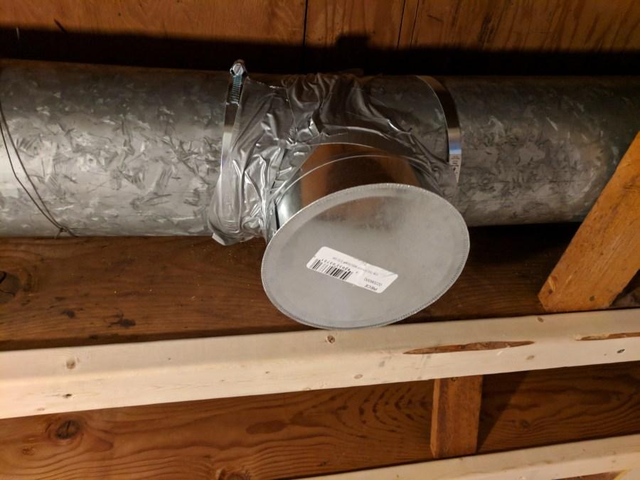 Basement new hvac duct capped