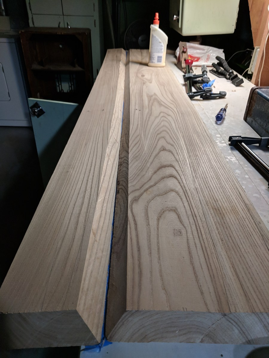 Mantle Tape Before Glue-Up