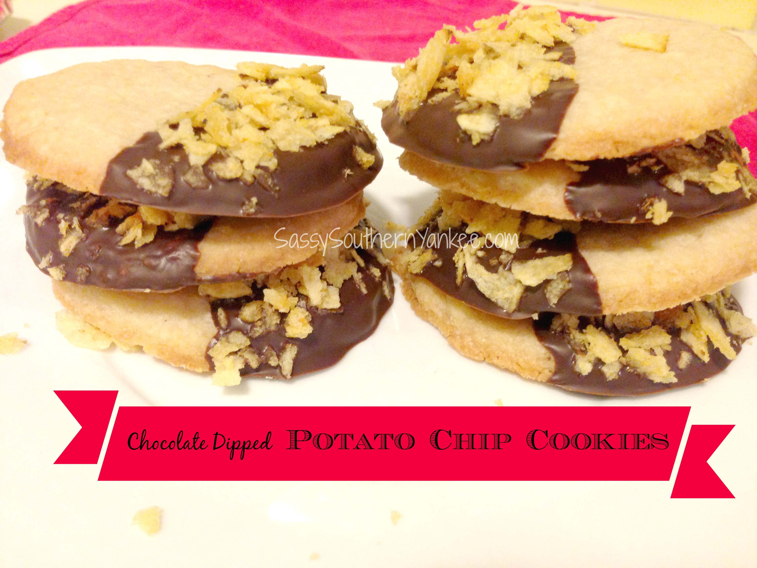 Chocolate Dipped Potato Chip Cookie | Sassy Southern Yankee