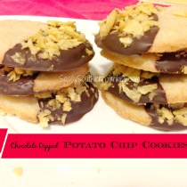 Chocolate Dipped Potato Chip Cookies