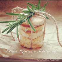 Lemon Rosemary Shortbreads