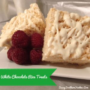 White Chocolate Rice Treats