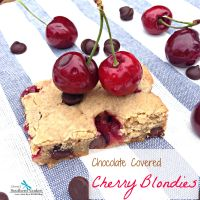 Chocolate Covered Cherry Blondies