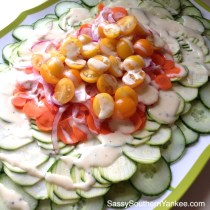 Garden Fresh Salad with White Balsamic Dressing from Sassy Southern Yankee
