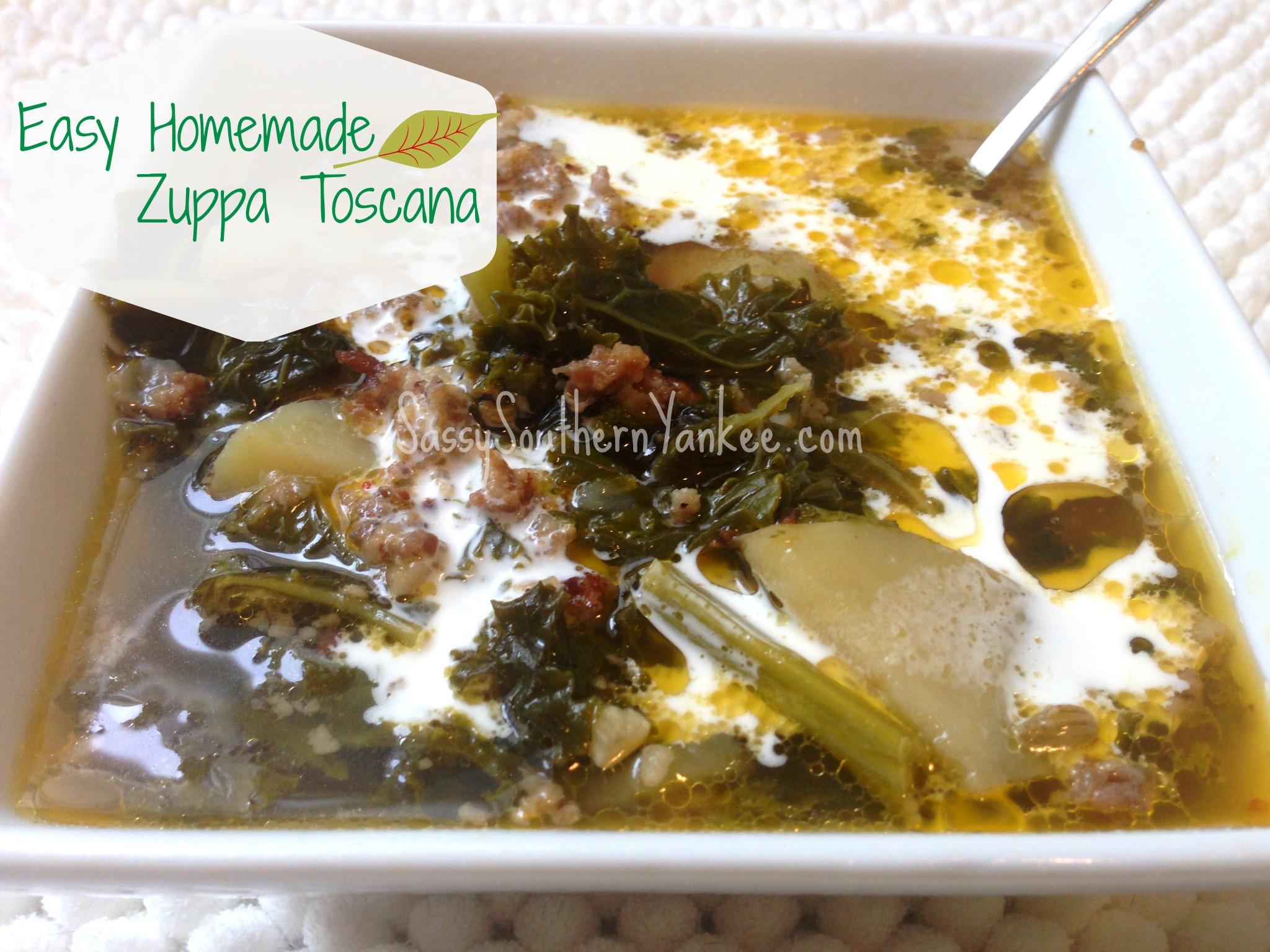 Easy Homemade Zuppa Toscana | Sassy Southern Yankee