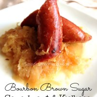 Bourbon Brown Sugar Sauerkraut and Kielbasa