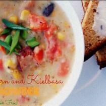 Corn and Kielbasa Chowder {Gluten Free} 5