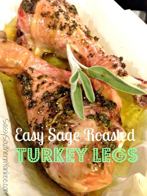Easy Sage Roasted Turkey Legs 3