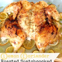 Lemon Coriander Roasted Spatchcocked Chicken 6