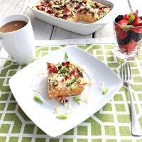 Asparagus and Ham Breakfast Casserole