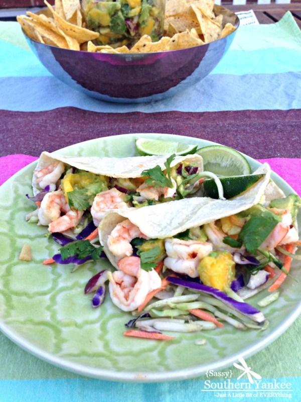 Shrimp Tacos with Mango Guacamole 4