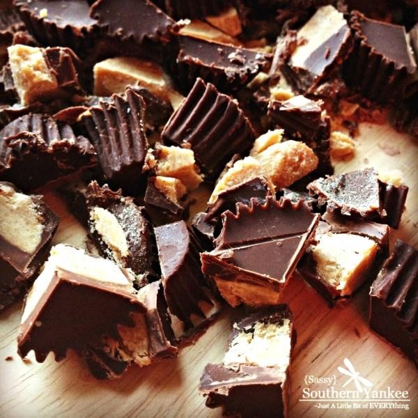Dark Chocolate Peanut Butter Brownies 1