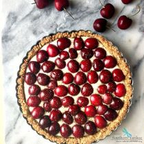 Finished Honeyed Goat Cheese Cherry Tart from Sassy Southern Yankee