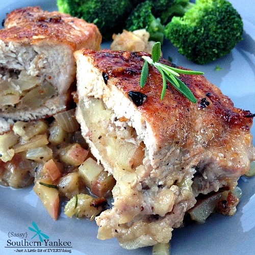 Apple Stuffed Pork Chops 3