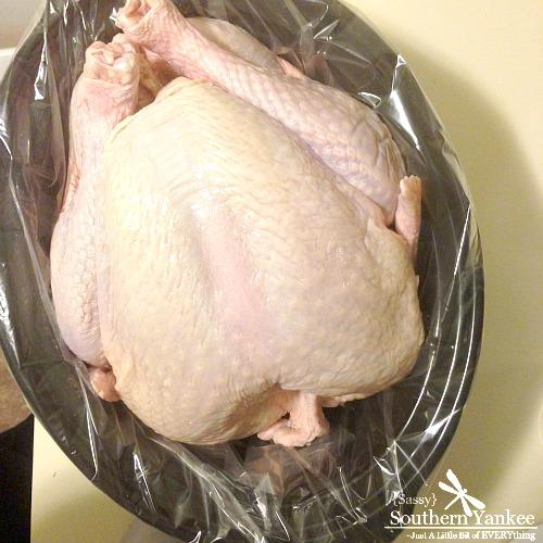 Cajan Brined Turkey in a Crockpot