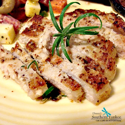 Rosemary Dijon Pork Chops from Sassy Southern Yankee