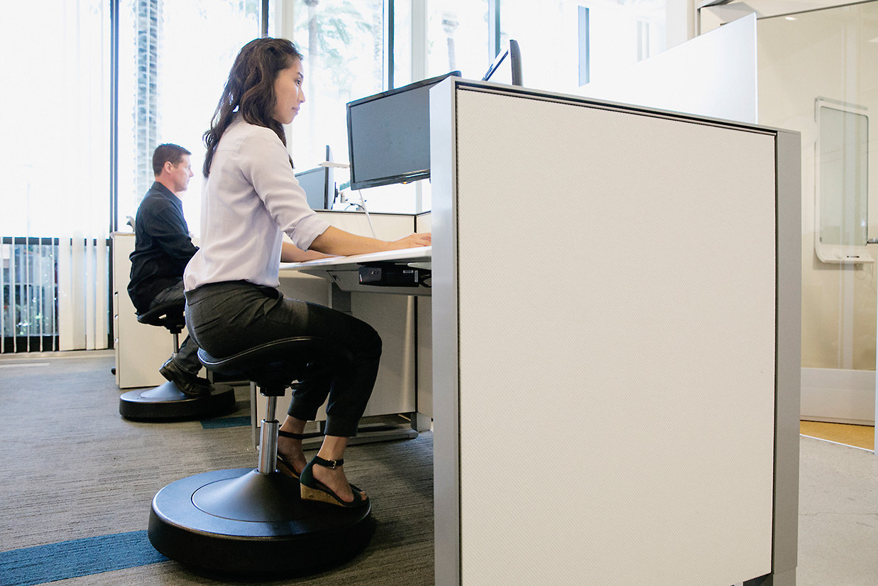 Active Sitting Chair How To Get Fit While Sitting In Your Chair Balanced Active Sitting