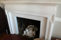 diy chalkboard magentic fireplace cover