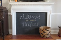 diy chalkboard magentic fireplace cover | SASSY WIFE ...