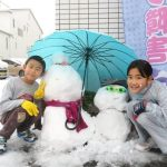 久々の積雪に大興奮の子供たち、朝からお風呂2回入りました