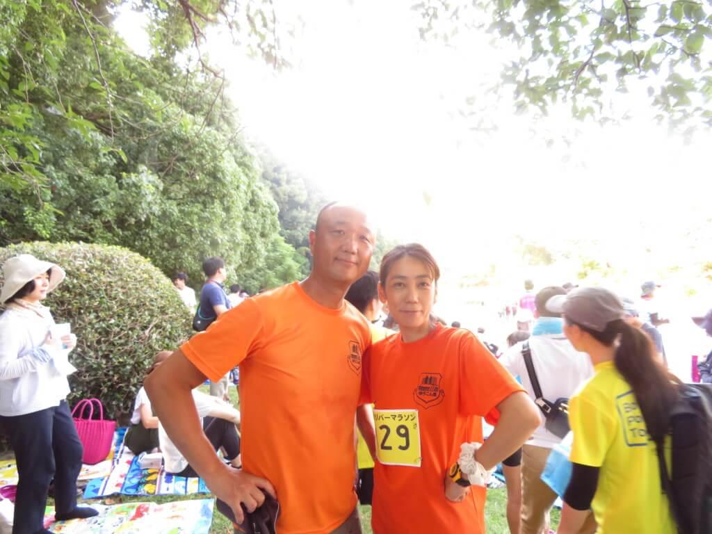 家族が出場する八幡川リバーマラソンの応援に行ってきた