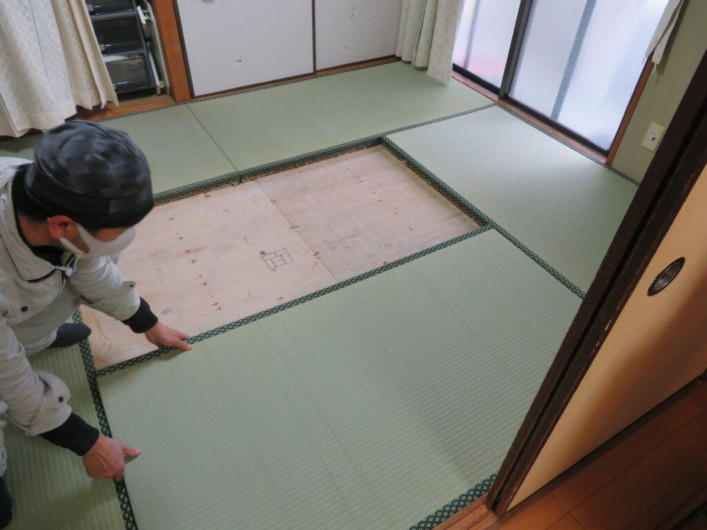 畳を張り替えて貰って気分スッキリ。これで当分安心です